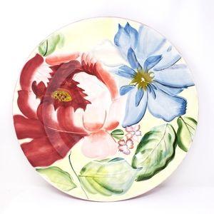 """Pfaltzgraff Flower Market 18"""" Round Chop Plate"""